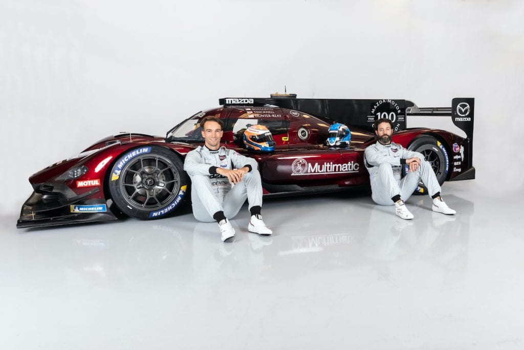 Harry Tincknell with his Mazda Motorsports teammate Jonathan Bomarito